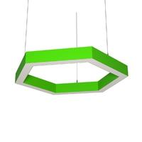 Cветодиодный дизайнерский светильник SVS H-Hexagon (зеленый)