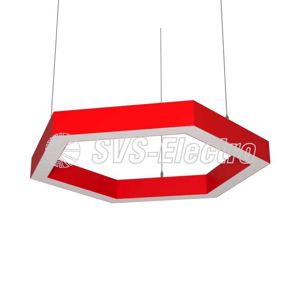 Cветодиодный дизайнерский светильник SVS H-Hexagon (красный)