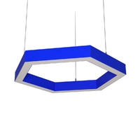 Cветодиодный дизайнерский светильник SVS H-Hexagon (синий)
