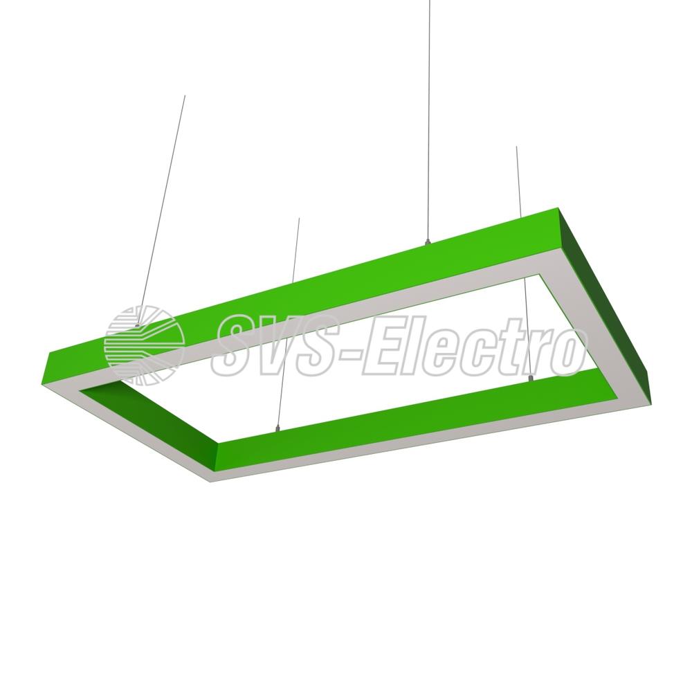 Cветодиодный дизайнерский светильник SVS Square 5070 (зеленый)