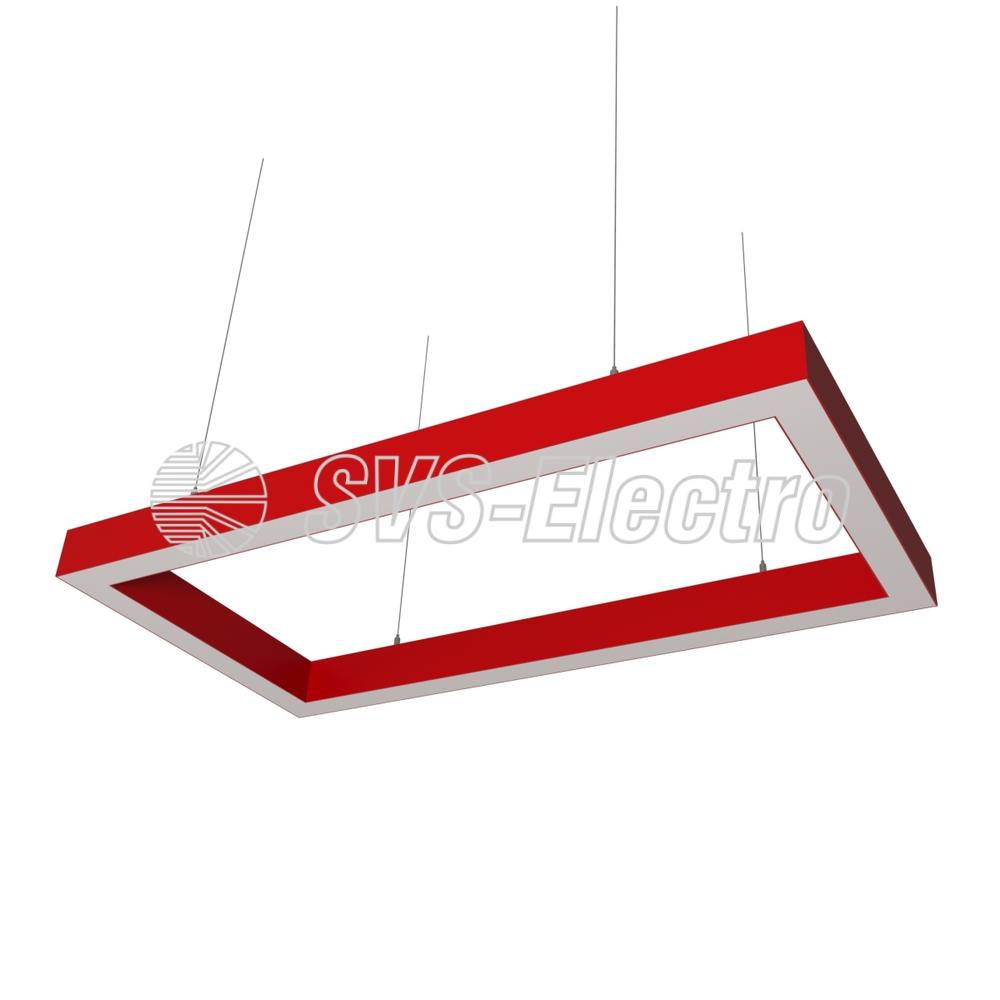 Cветодиодный дизайнерский светильник SVS Square 5070 (красный)