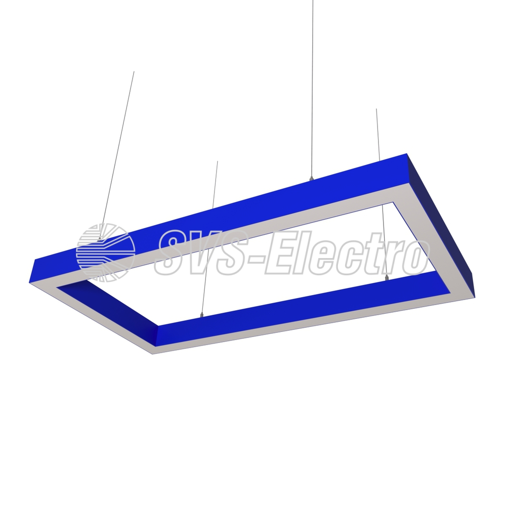 Cветодиодный дизайнерский светильник SVS Square 5070 (синий)