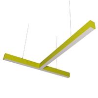 Cветодиодный дизайнерский светильник SVS T-Type (желтый)