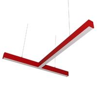Cветодиодный дизайнерский светильник SVS T-Type (красный)
