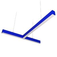 Cветодиодный дизайнерский светильник SVS T-Type (синий)