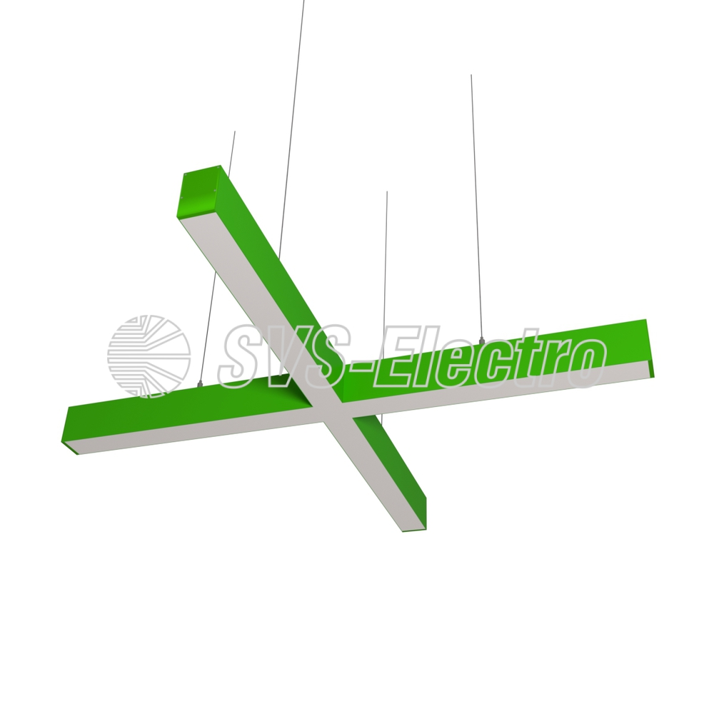 Cветодиодный дизайнерский светильник SVS X-Type (зеленый)