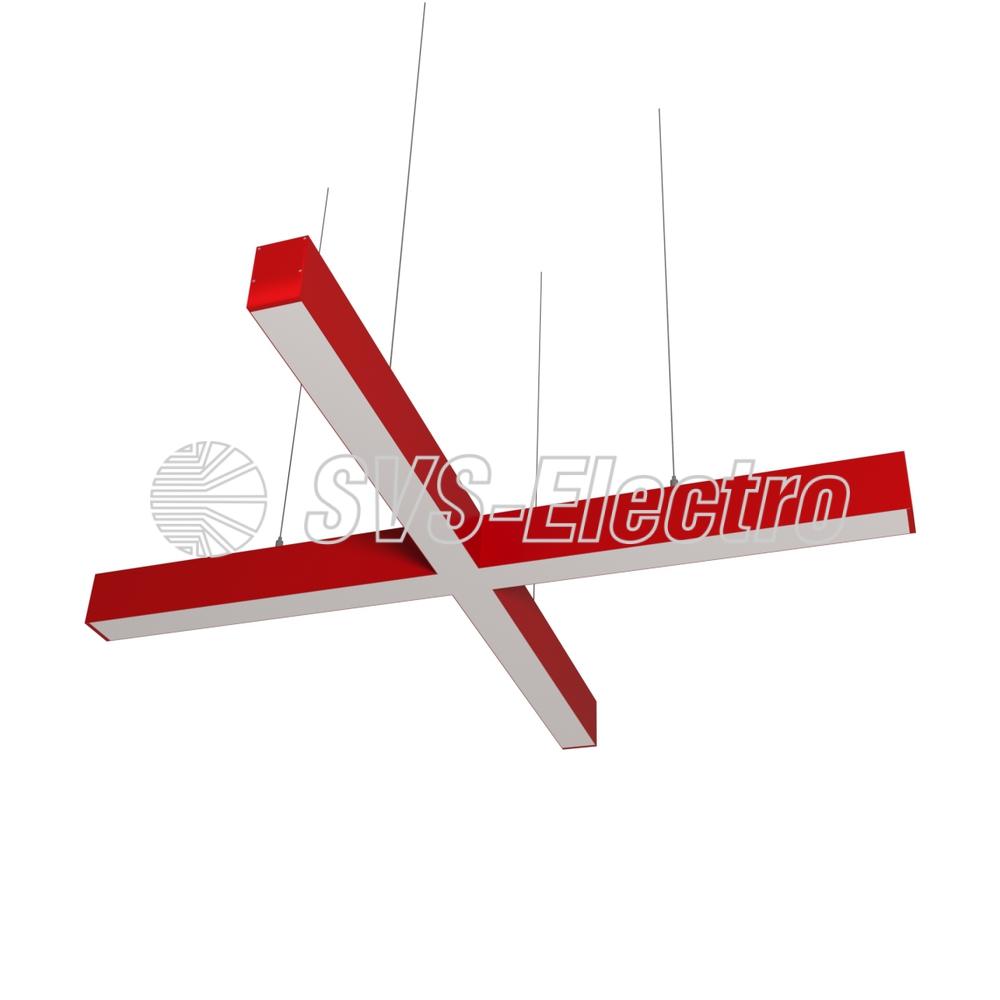 Cветодиодный дизайнерский светильник SVS X-Type (красный)