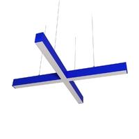 Cветодиодный дизайнерский светильник SVS X-Type (синий)