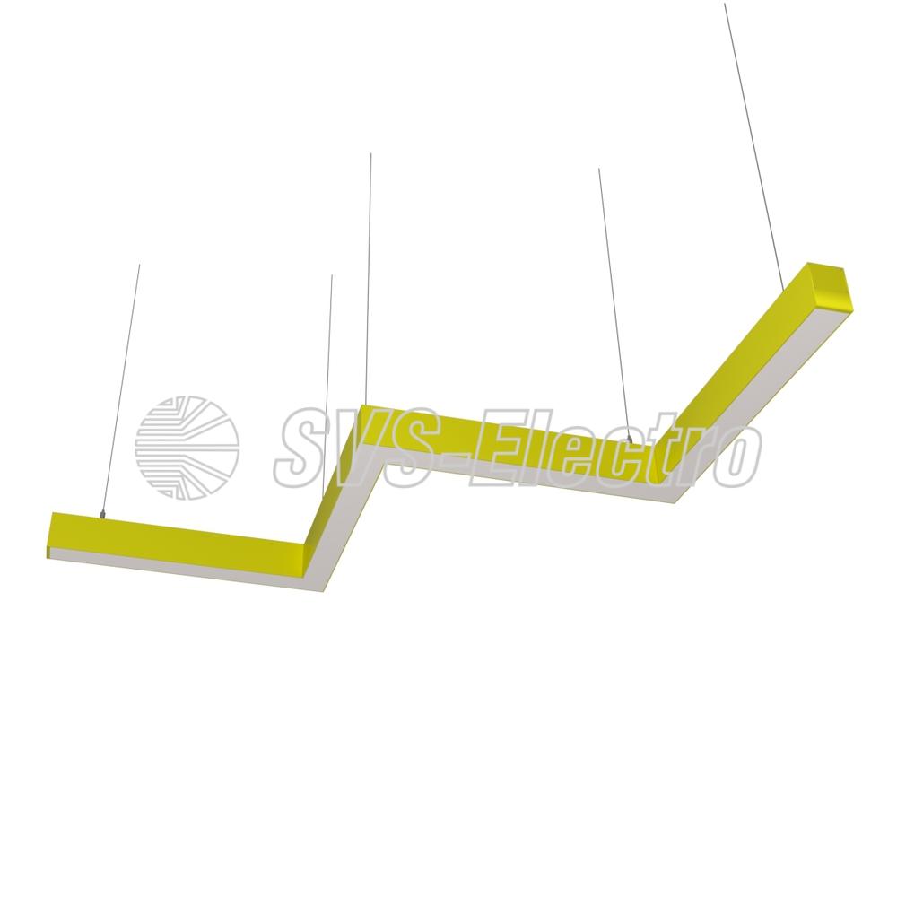 Cветодиодный дизайнерский светильник SVS ZigZag (желтый)