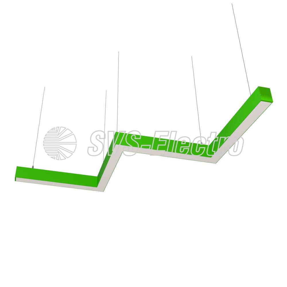 Cветодиодный дизайнерский светильник SVS ZigZag (зеленый)