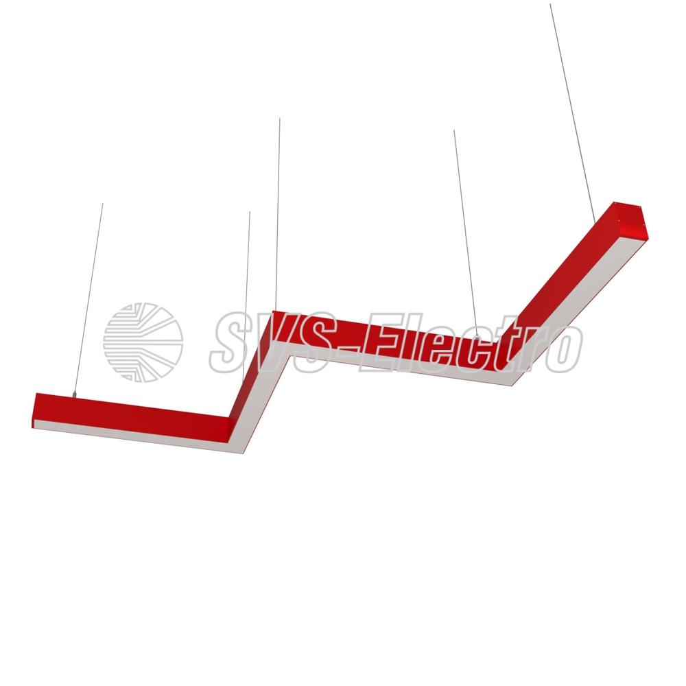 Cветодиодный дизайнерский светильник SVS ZigZag (красный)