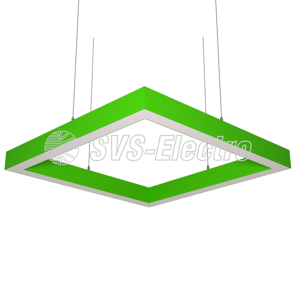 Cветодиодный дизайнерский светильник SVS Н-Box (зеленый)