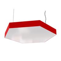 Cветодиодный дизайнерский светильник SVS Hexagon (красный)