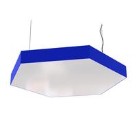 Cветодиодный дизайнерский светильник SVS Hexagon (синий)